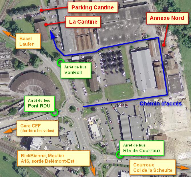 Plan d'accès Cantine / Annexe Nord